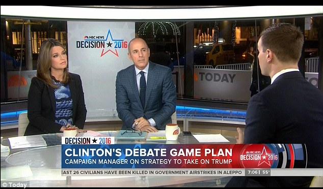 clinton trump presidential debate schedule times moderators