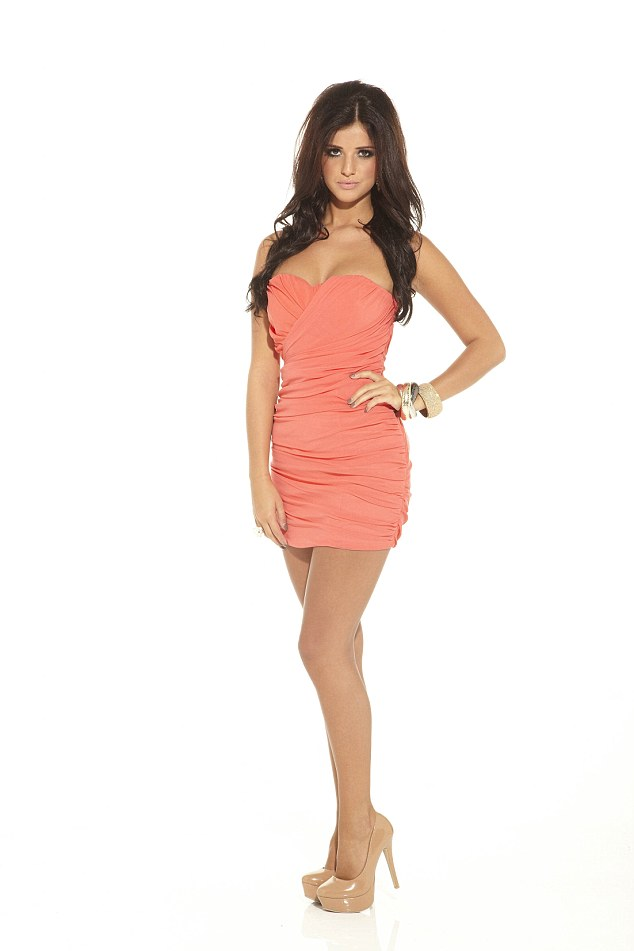 Big difference: When Lucy first shot to fame in 2010 on TOWIE she was a fan of an orange tan (and dress)