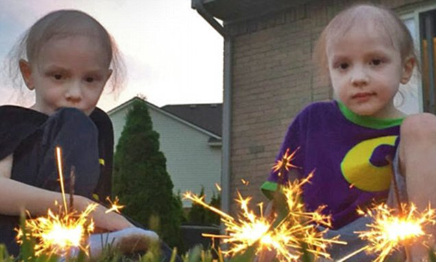 Family's heartbreak as twins boys are BOTH diagnosed with the same rare leukemia