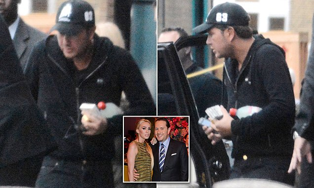 Bernie Ecclestone's son-in-law James Stunt is seen for first time since police raid