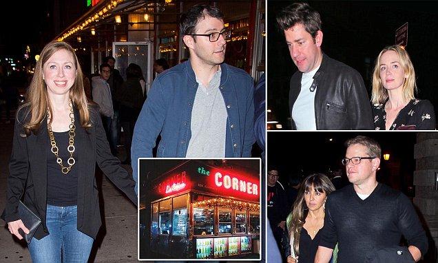 Chelsea Clinton goes on a triple date with Matt Damon, Emily Blunt and John Krasinski