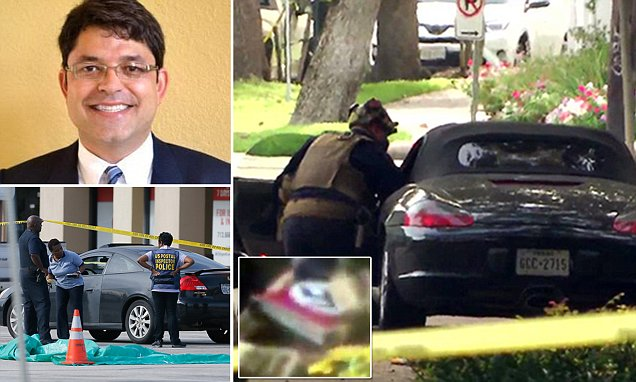 Houston police 'kill gunman who shot NINE people with a revolver at a strip mall'
