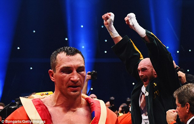 Fury defeated Klitschko last November to become the heavyweight champion of the world