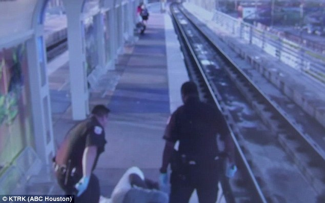 Houston transit cop seen on video beating homeless man resigns