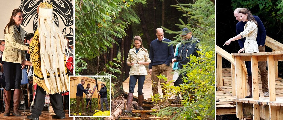 Kate Middleton dresses down in Zara jeans as she and William meet First Nation peoples