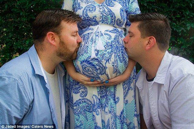 'I knew I had to help': Ashlee Mataele volunteered as a surrogate for her brother David (left) and his partner Brendan (right)