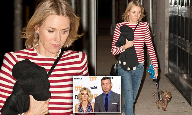 Naomi Watts is seen for first time since split with Liev Schreiber