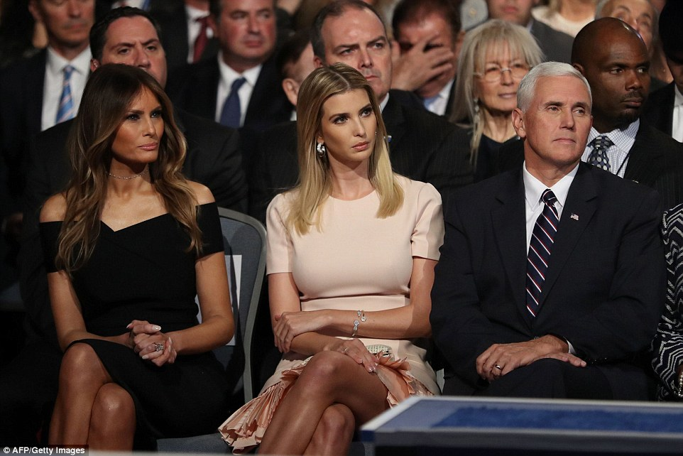 Trumps v Clintons: Rival families take their places at historic debate ...