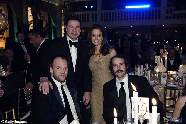 Moved on: Ethan Suplee, John Travolta, Kelly Preston, and Jason Lee pictured together in 2007