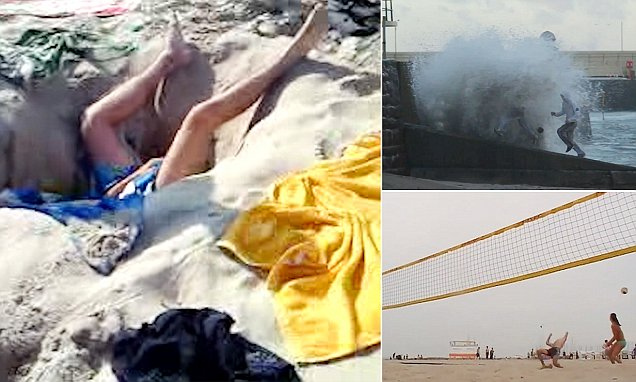 Hilarious videos of beach trips that went VERY wrong
