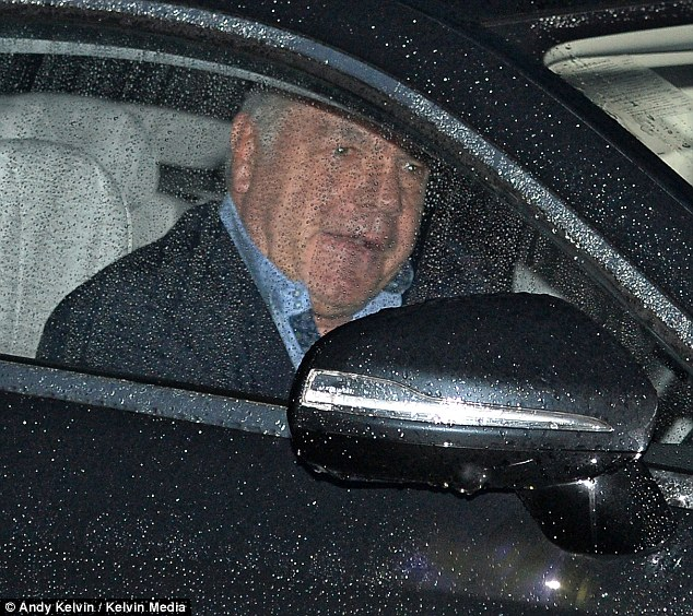 Allardyce (pictured today leaving his home in Bolton) allegedly offered advice on how to 'get around' FA rules regarding player transfers