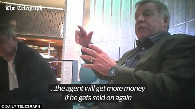 England manager Sam Allardyce was filmed giving advice to undercover reporters posing as representatives of a Far East firm