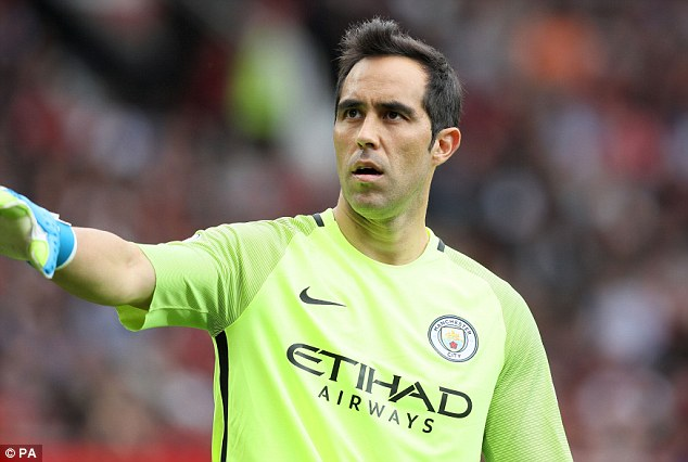 Claudio Bravo joined Manchester City in the summer paving the way for Ter Stegen to play
