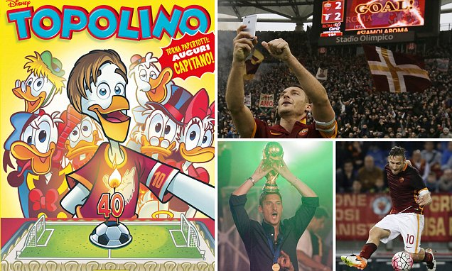 All hail Francesco Totti: the toast of Rome, Serie A and Disney turns 40…and he's no