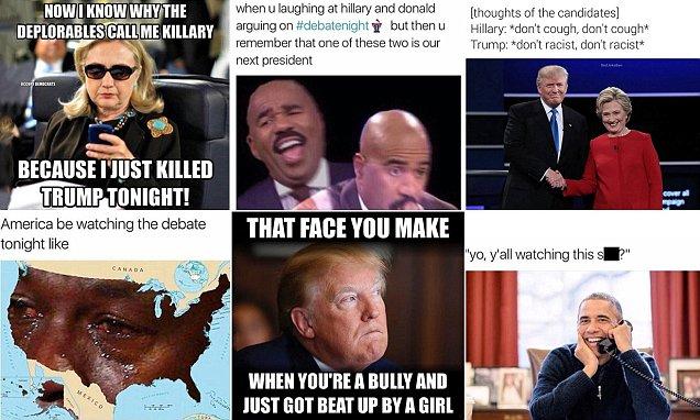 2016 presidential debate in memes as Donald Trump is mocked for 'sniffles'