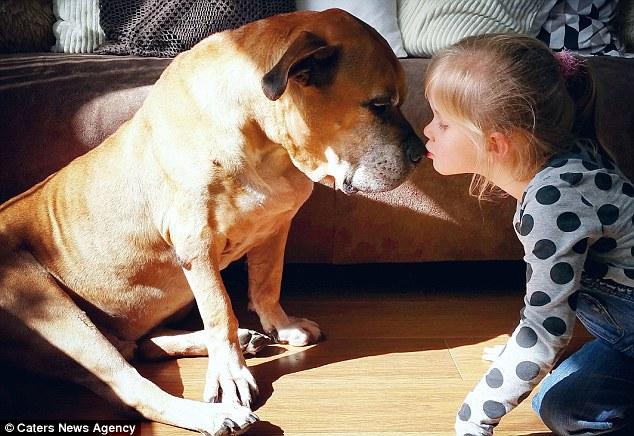 Lynn từ Den Helder ở Hà Lan đã dành nhiều thời gian của mình với con vật cưng 13 tuổi của cô Jaden, kể từ thời điểm cô được sinh ra