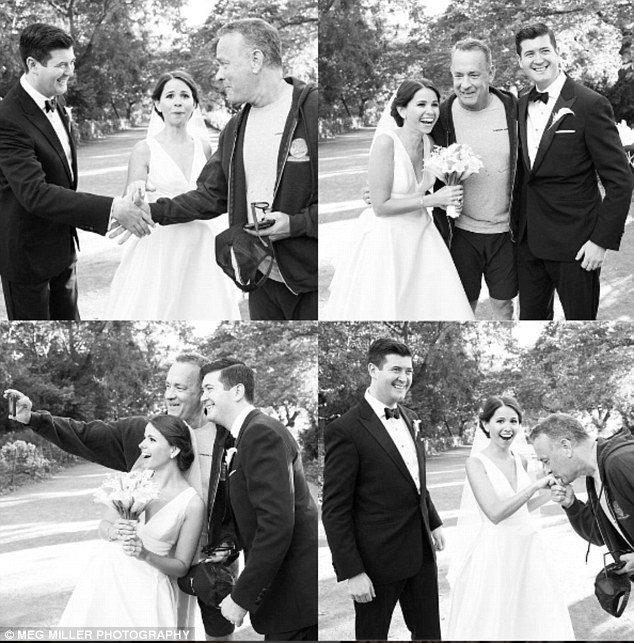 Tom Hanks Photobombs Bride And Groom's Wedding Pics And