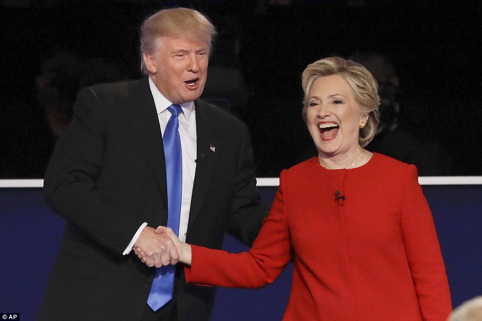 Hillary Clinton brands Donald Trump a racist during presidential debate
